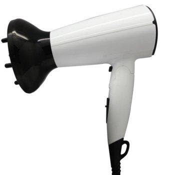 Сешоар Sapir SP 1100 CO, 1600W, дифузер, сгъваема дръжка, бял image