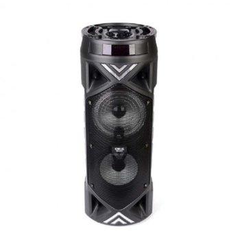 """Тонколона Royal MK-8812 2x6.5"""", 2.0, 20W, Bluetooth, USB, micro USB, AUX, черна, FM, преносима, жичен микрофон, слот за microSD карта, дистанционно управление, цифров LED дисплей RGB, батерия 3600mAh капацитет image"""