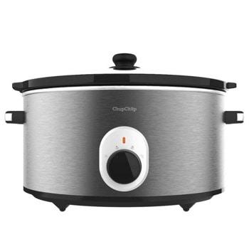 Уред за бавно готвене Cecotec Chup Chup, 2 степени на готвене, 5.5 л. капацитет съд, овална керамична вътрешност, инокс image