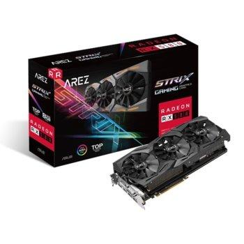 Видео карта AMD Radeon RX 580, 8GB, Asus AREZ Strix TOP Gaming, PCI-E, GDDR5, 256bit, 2x DisplayPort, 2x HDMI, 1x DVI image