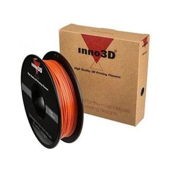 Консуматив за 3D принтер Inno3D, PLA Orange, 1.75mm, оранжев, 500g, пакет от 5 броя image
