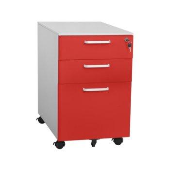 Шкаф Carmen CR-1273 L SAND, 3бр. рафтове, пясъчно покритие,прахово боядисан метал, червен image