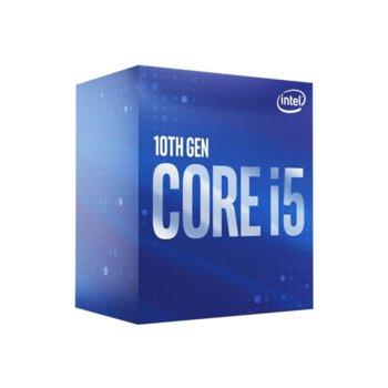 Процесор Intel Core i5-10600, шестядрен (3.3/4.8GHz, 12MB Cache, 1200MHz графична честота, LGA1200) BOX, с охлаждане image