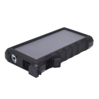 Външна батерия /power bank/ Sandberg, 24000mAh, Micro USB(ж)/USB A(ж)/USB C(ж), фенерче, черна, соларна image