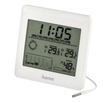 Електронна метеостанция Hama ЕWSC-10, време/календар/аларма, термометър, хигрометър,, бяла image