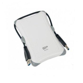 """Твърд диск 2TB, SILICON POWER Armor A30, външен, 2.5"""" (6.35 cm), USB 3.0, бял image"""
