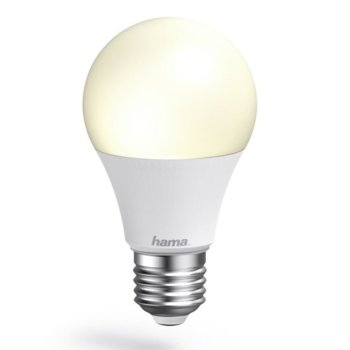 Смарт крушка HAMA WiFi-LED 17655, E27, 10W, 806 lm, студена, 6500K, Wi-fi връзка, димираща image