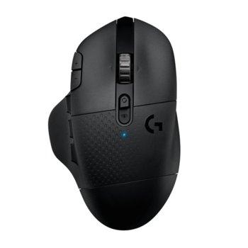 Мишка Logitech G604 LightSpeed, безжична, Bluetooth, оптична (16000 dpi), USB, гейминг, черна image
