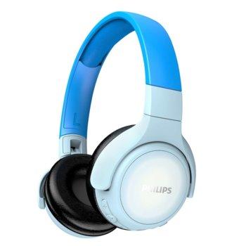 Слушалки Philips TAKH402BL, безжични, микрофон, Bluetooth, до 20 часа време на работа, oграничена сила на звука до 85 dB, сини image