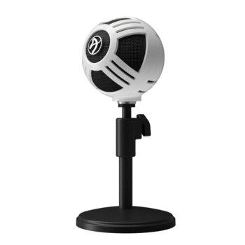 Микрофон Arozzi Sfera, гейминг, USB, 1.5m, бял image