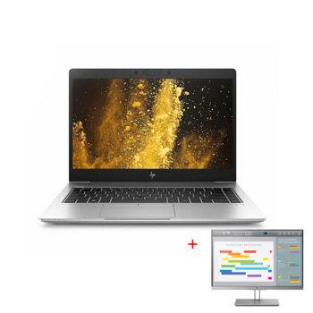 """Лаптоп HP EliteBook 840 G6 (6XD46EA)(сребрист) в комплект с монитор HP EliteDisplay E243i, четириядрен Whiskey Lake Intel Core i7-8565U 1.8/4.6 GHz, 14.0"""" (35.56 cm) Full HD Display, (HDMI), 8GB DDR4, 256GB SSD, Thunderbolt, Windows 10 Pro image"""