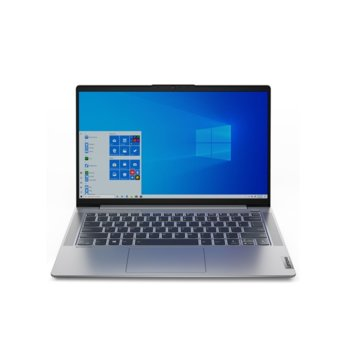 "Лаптоп Lenovo IdeaPad 5 14ITL05 (82FE008JBM)(сив), четириядрен Tiger Lake Intel Core i5-1135G7 4.2 GHz, 14"" (35.56 cm) Full HD IPS Anti-Glare Display & GF MX450 2GB, (HDMI), 8GB DDR4, 512GB SSD, 1x USB-C, Free DOS image"