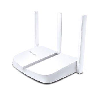 Рутер Mercusys MW305R V2, 300Mbps, Wireless N, 3x LAN10/100Mbps, 3x външни антени, бял image