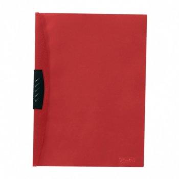 Папка Herlitz, с клип, А4, червен гръб с прозрачно лице image