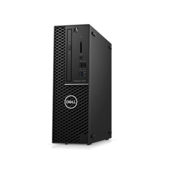 Настолен компютър Dell Precision 3440 SFF (N010P3440SFFCEE2), осемядрен Comet Lake Intel Core i7-10700 2.9/4.8 GHz, Nvidia Quadro P620 2GB, 16GB DDR4, 256GB SSD, 1x USB 3.2 Type-C, клавиатура и мишка, Windows 10 Pro image