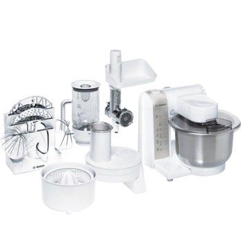 Кухненски робот Bosch MUM4856EU, 600 W, 4 степени на работа, MultiMotion мотор, бял image