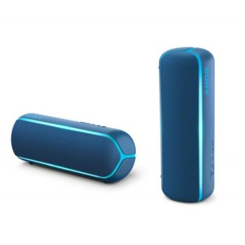Тонколона Sony SRS-XB22, 2.0, Bluetooth, 3.5mm жак, синя, IP67 image