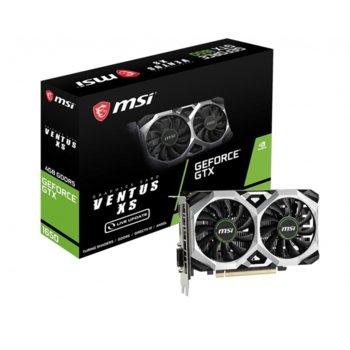 Видео карта Nvidia GeForce GTX 1650, 4GB, MSI VENTUS XS 4G, PCI-E, GDDR5, 128bit, HDMI, DisplayPort, DVI-D image