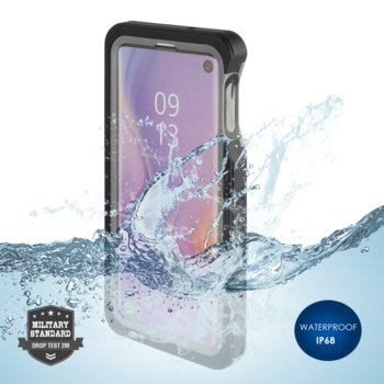 Калъф за Samsung Galaxy S10E, хибриден, 4Smarts Rugged Active Pro STARK 4S467462, удароустойчив, водоустойчив, черен image