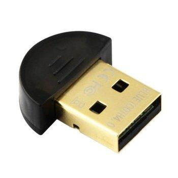 Адаптер VCom DU115, Bluetooth 4.0, до 3Mbps, обхват до 20м, черен image