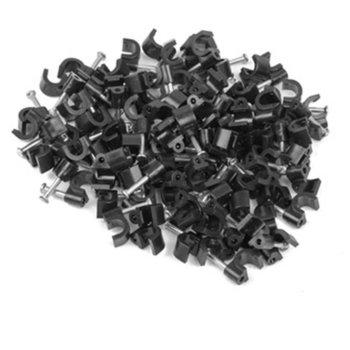 Скоби за захващане на кабели Lanberg, 100 бр, 5mm, черни image