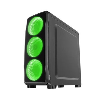 Кутия Genesis Titan 750 Green, ATX, micro-ATX, mini-ITX, 1x USB 3.0, 2x USB 2.0, черна, без захранване image