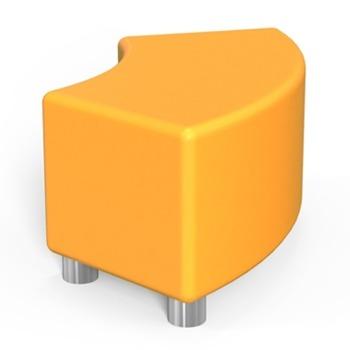 Табуретка RFG Curve, еко кожа, MDF основа, оранжева image