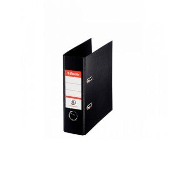 Банков класьор Esselte, за документи с формат до А5, дебелина 7см, с метален кант, черен image