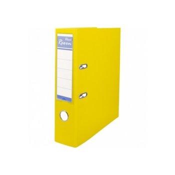 Класьор Rexon, за документи с формат до A4, дебелина 5см, с метален кант, жълт image