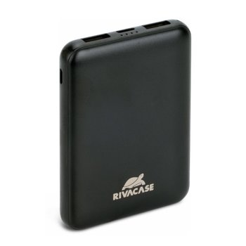 Bъншна батерия /power bank/ Rivacase VA2405, 5000 mAh, 1x USB Type C, 2x USB A, черна image