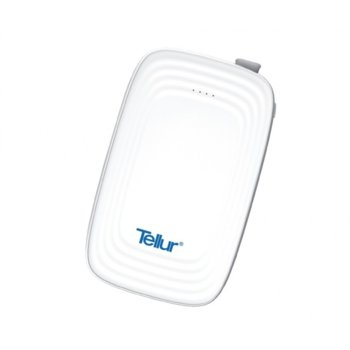 Външна батерия/power bank/ Tellur Slim 3in1 TLL158061, 5000 mAh, 1x USB, 5V/2.1A, бял image