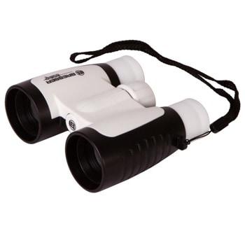 Бинокъл Bresser Junior 3x30, за деца, 3x оптично увеличение, 30mm апертура, черно-бял image