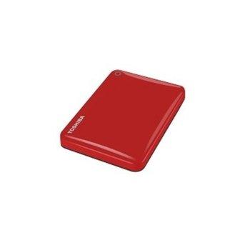 """Твърд диск 500GB Toshiba Canvio Alu Red (червен), външен, 2.5"""" (6.35 см), USB 3.0 image"""