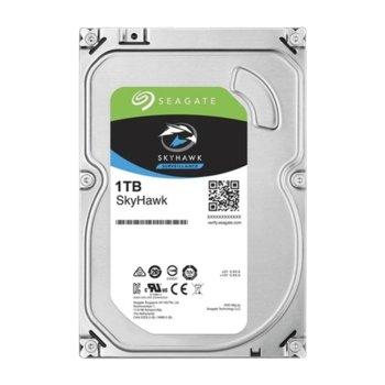 """Твърд диск 1TB Seagate Skyhawk ST1000VX008, SATA 6Gb/s, 5400 rpm, 64MB кеш, 3.5"""" (8.89 cm) image"""