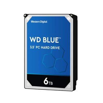 """Твърд диск 6TB WD Blue PC, SATA 6GB/s, 5400 rpm, 128MB, 3.5"""" (8.89cm) image"""