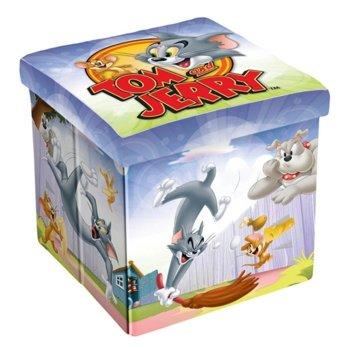 Табуретка Disney Tom & Jerry, 3 в 1, MDF и текстил, до 150 kg, шарен image