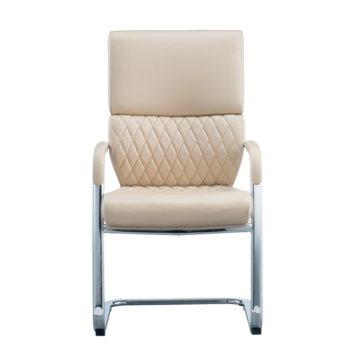 Посетителски стол RFG GRANDE M, екокожа, бежов, 2 броя в комплект image