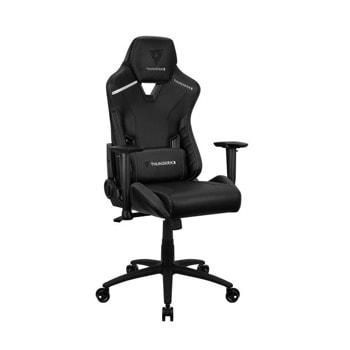 Геймърски стол ThunderX3 TC3 All Black, до 150кг, газов амортисьор, люлеещ механизъм, черен image