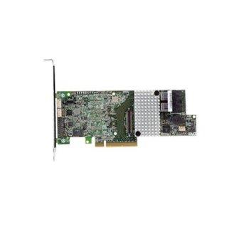 RAID Контролер Intel RS3DC040, от PCIe 3.0 x8 към 12Gb/s SAS, 6Gb/s SATA, 4 вътрешни порта(до 128 устройства), 1GB вградена памет, поддържа RAID 0, 1, 10, 5, 50, 6, 60 image