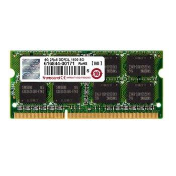 Памет 4GB DDR3L 1600MHz, SODIMM, Transcend, 1.35V image