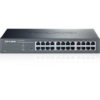 Суич TP-LINK Easy Smart TL-SG1024DE, 24 Port 1000Mbps, Managed image