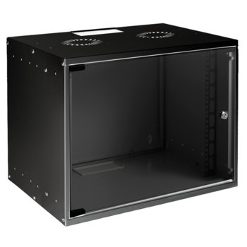 Комуникационен шкаф MIRSAN SOHO, 535 x 400 x 350 мм, D=400 мм / 7U, черен, за стена image