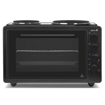 Готварска печка Arielli AO-3642BL, 2 нагревателни зони, 42л. обем, черна image