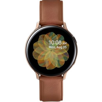 Смарт часовник Samsung Galaxy Watch Active2 SM-R820N (SM-R820NSDABGL), до 131 часа време за работа, неръждаема стомана, златист image