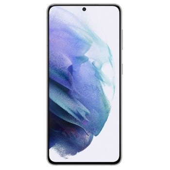 "Смартфон Samsung Galaxy S21 5G (бял), поддържа 2 sim карти, 6.2"" (15.74 cm) Dynamic AMOLED 2X, 120Hz дисплей, осемядрен Exynos 2100 2.9, 8GB RAM, 256GB Flash памет, 64.0 + 12.0 + 12.0 & 10.0 Mpix камера, Android, 169 g. image"