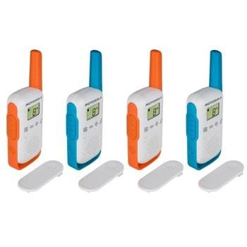 Радиостанции Motorola Talkabout T42 PMR, PMR446, 16 канала, до 4 km, лесно сдвояване, различни цветове, 4бр. image