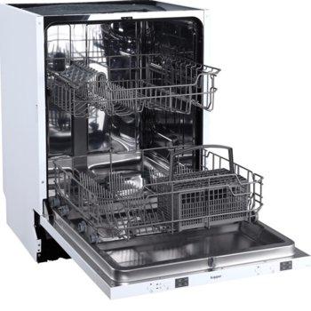 Съдомиялна за вграждане Crown CDWBI 601243, клас A++, 12 комплекта, 4 програми, ниво на шума 49db, отложен старт, 1/2 зареждане, бяла image