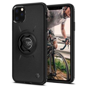Калъф за Apple iPhone 11 Pro Max, хибриден, Spigen GearLock Bike Mount ACS00277, удароустойчив, вграден GearLock механизъм, черен image