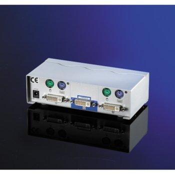 KVM суич ROLINE 14.99.3252, DVI , 1U-2PC, PS/2 image