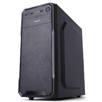Кутия Makki 0638BB-U2, ATX/mATX, черна, без захранване image